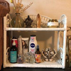 Vintage Wicker Rattan Cane Shelf